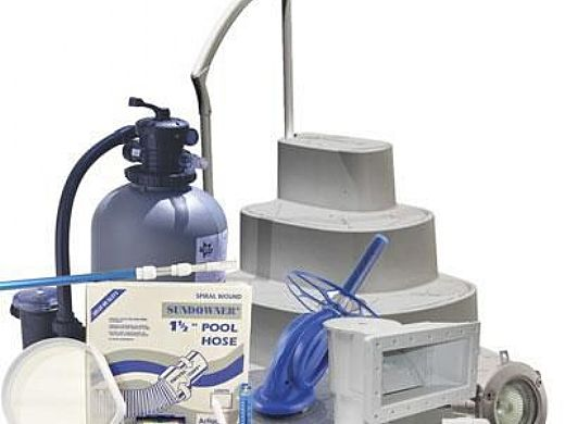 Ultra Sand Filter Above Ground Pool Equipment Package | Small Pools up to 27' Round | AG-PB-0011