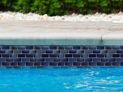 Fujiwa Tile Gltel Mosaic Series 7 8 X 1 Indigo 11