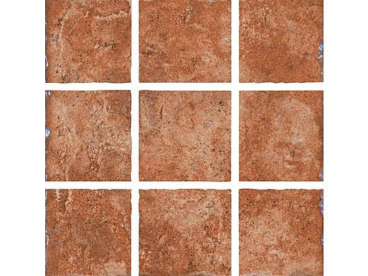 National Pool Tile Geosheen 2x2 Series | Rust | GEORUST2X2