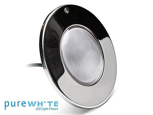 J&J Electronics PureWhite LED Pool Light HI Series | 120V Equivalent to 500W 150' Cord | LPL-F3W-120-150-P