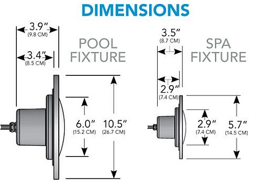 J&J Electronics PureWhite LED Pool Light HI Series | 12V Equivalent to 500W | 30' Cord | LPL-F3W-12-30-P