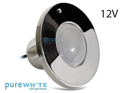 J&J Electronics PureWhite LED Spa Light | 12V Equivalent to 100W 100' Cord | LPL-S1W-12-100-P