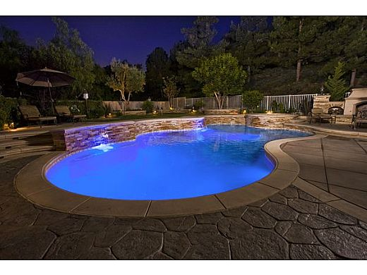 J&J Electronics ColorSplash XG Series Color LED Pool Light | 12V 30' Cord | LPL-F2C-12-30-P