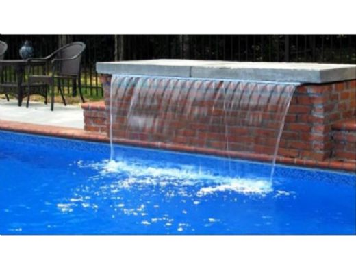 """Natural Wonders 48"""" Arch Waterfall with 1"""" Lip Back Port 