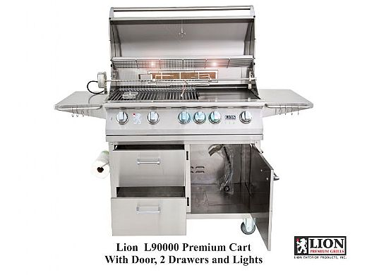 Lion Premium Grills L-90000 Stainless Steel Cart Only | 53861