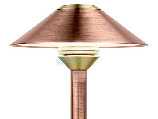 "FX Luminaire CB 1 LED Pathlight | Copper Finish | 12"" Riser 