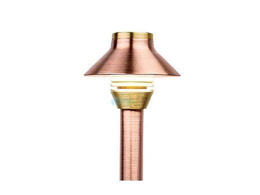 """FX Luminaire HC 1 LED Pathlight     Copper Finish   12"""" Riser   HC-1LED-12R-CU KIT"""