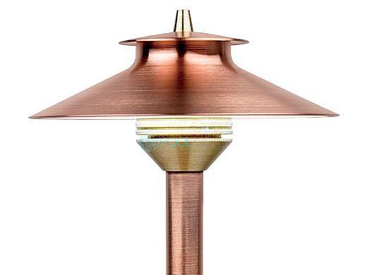 "FX Luminaire DM 3 LED Pathlight    Copper Finish   12"" Riser   DM-3LED-12R-CU KIT"