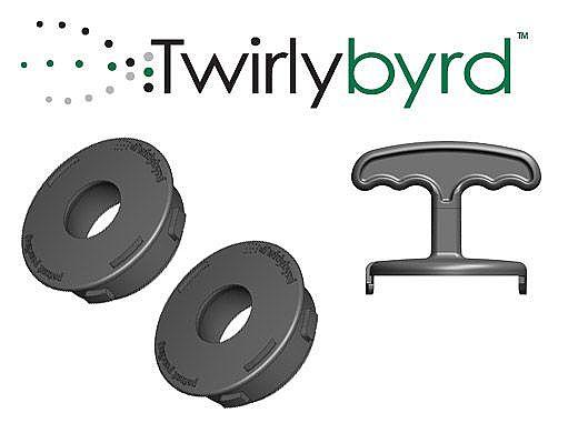 Twirlybyrd Baja Bubbler Finishing Kit | Black  | TB-BBFIN2PKB