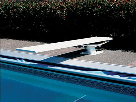 SR Smith Cantilever Jump Stand and Frontier III Board Complete   6' Radiant White with White Tread   68-209-5962