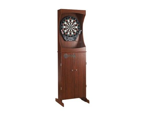 Hathaway Outlaw Free Standing Dartboard and Cabinet Set | Cherry | NG1040 BG1040
