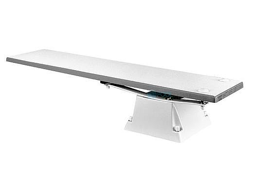SR Smith Supreme Jump Stand with Frontier lll Board Complete | 6' Radiant White with White Tread | 68-209-6162