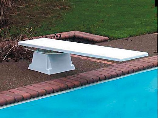SR Smith Supreme Jump Stand with Glas-Hide Board Complete | 8' Radiant White with White Tread | 68-209-2382