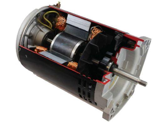 Nidec Motor Corp Aqua Shield EZ48 Threaded Shaft C-Flange Pool & Spa Motor | Standard Efficiency | 0.95 THP 115/230 V 56J Frame | AST095