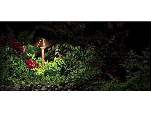 "FX Luminaire CA 3 LED Pathlight   Black Wrinkle Finish   12"" Riser   CA-3LED-12R- BF KIT"