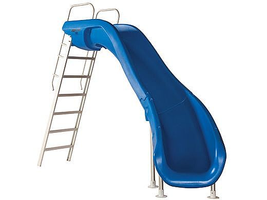 SR Smith Rogue2 Pool Slide   Right Curve Blue   610-209-5813