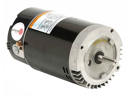 Replacement Keyed Shaft Pool Motor 1HP | 230V 56 Round Frame Two Speed Full-Rated B974 | EB974