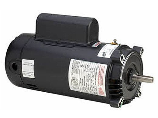 Replacement Keyed Shaft Pool Motor 1HP | 115/230V 56 Round Frame Full-Rated B122 | EB122