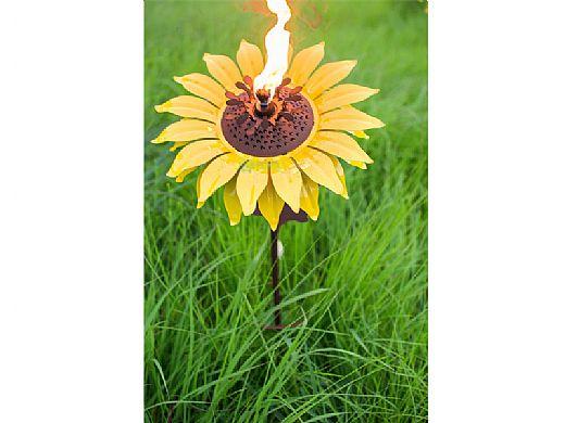 Desert Steel Sunflower Garden Torch 409 003