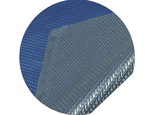 Space Age Solar Cover   21' Round for Above Ground Pool   Blue-Silver   5-Year Warranty   8-MIL Thickness   SC-BS-000004