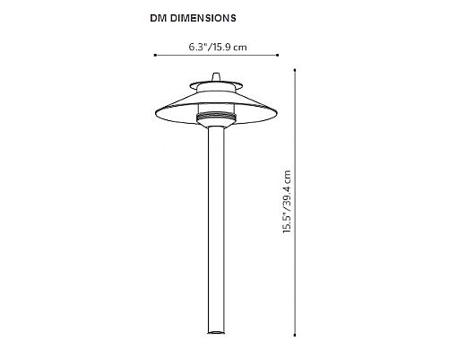 "FX Luminaire DM LED Pathlight  | Copper Finish | 18"" Riser | DM-1LED-18R-CU KIT"