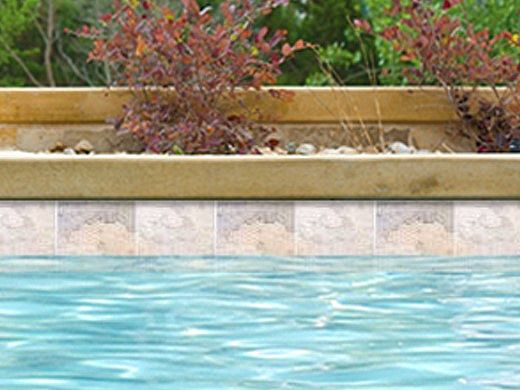 National Pool Tile Gemstone 6x6 Series | Silver | GMS-SILVER