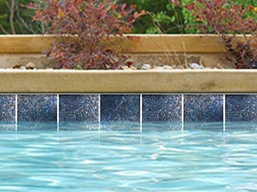 National Pool Tile Trident 6x6 Series   Blue   TRD-SEASIDE