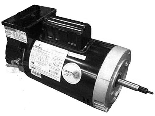 Replacement Threaded Shaft Pool Motor 2HP   230V 56 Round Frame Full-Rated   Two Speed with Timer B2979T   EB2979T    ASB2979T