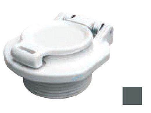"""AquaStar Safety Vacuum Lock Wall Fitting 1.5""""   Dark Gray   VLK15T05"""