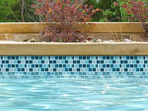 National Pool Tile Essence 1x1 Glass Tile   Imperial Blue   ES-IMPERIAL 1X1