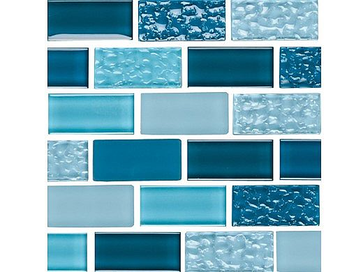 National Pool Tile Essence 1x2 Glass Tile | Imperial Blue | ES-IMPERIAL 1X2