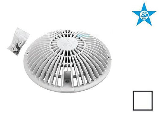 """AquaStar 8"""" Round Retrofit MoFlow Suction Outlet Cover with Screw and Bushing Kit 