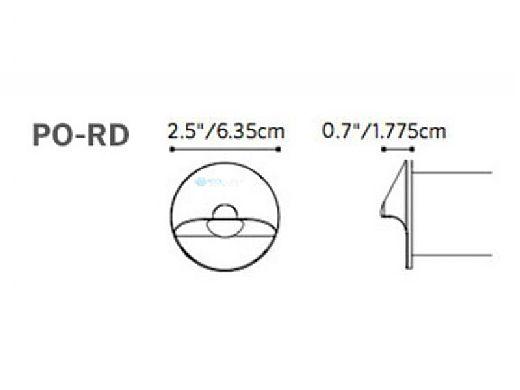 FX Luminaire PO 1LED Wall Light | Round Faceplate | Bronze Metallic | PO-1LED-RD-BZ