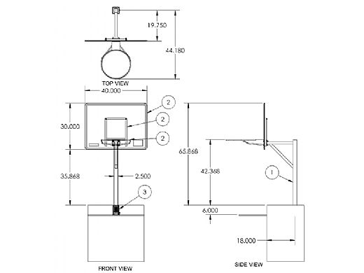 SR Smith Commercial RockSolid Basketball Game | Stainless Steel Frame | With Anchor | S-BASK-ERS