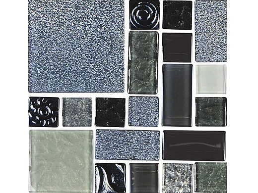 National Pool Tile Soleil Mosaic Glass Series Pool Tile | Silver | ISIS