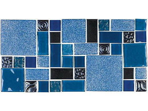 National Pool Tile Soleil Mosaic Glass Series Pool Tile | Blue | CLEO