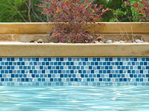 National Pool Tile Soleil 1x1 Glass Series Pool Tile | Blue | CLEO1X1