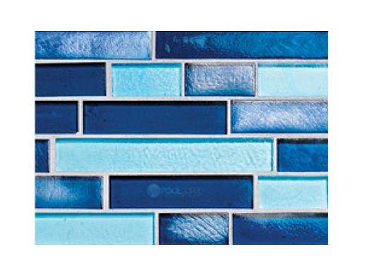 National Pool Tile Aquascapes Interlocking Glass Tile | Azure | OCN-AZURE IS12