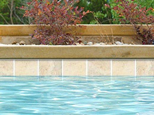 National Pool Tile Simulated Polished Travertine 6x6 Pool Tile | Beige | SPT-BEIGE