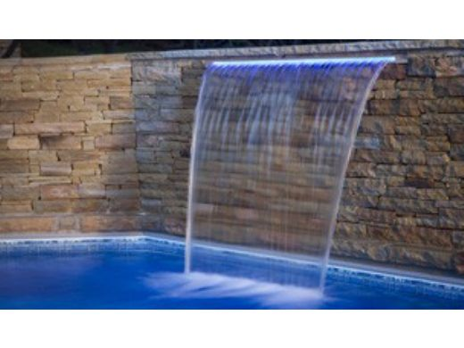 "Brilliant Wonders 24"" LED Waterfall Back Port | 6"" Lip | 100 Ft. Cord | White | 25677-230-000"