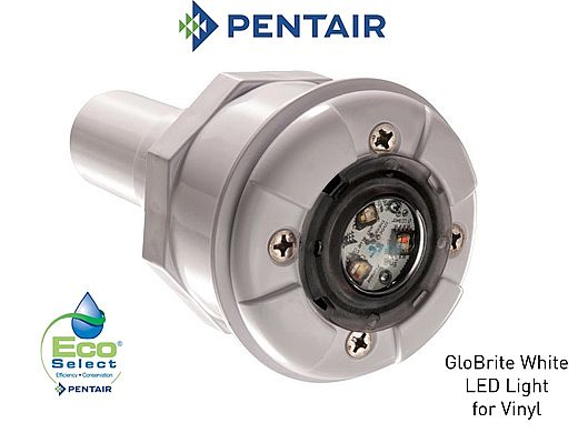 Pentair GloBrite Shallow Water White LED Light | 12V 30' Cord | 602102
