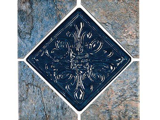 National Pool Tile Gemstone 6x6 Series | Blue Deco | GMS-BLUE DECO