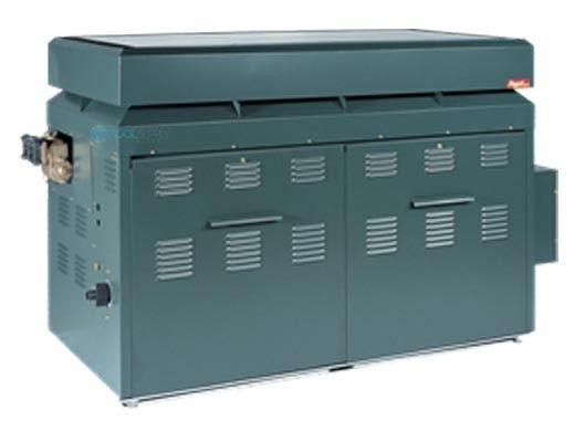 Raypak Raytherm P-926 #49 Cold Run Commercial Swimming Pool Heater with Outdoor Top | Natural Gas 926,000 BTUH | 012390