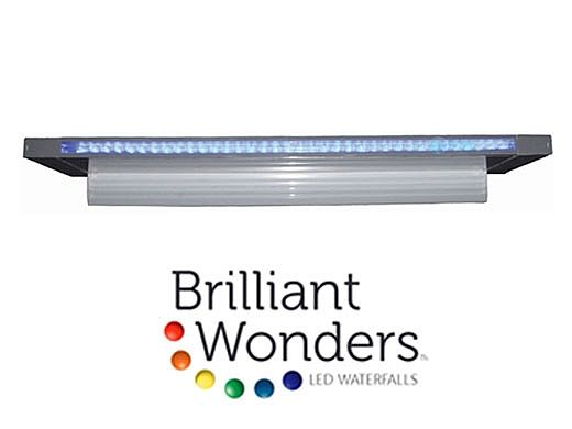 "Brilliant Wonders 18"" LED Waterfall Back Port | 6"" Lip | 100 Ft. Cord | White | 25677-180-000"