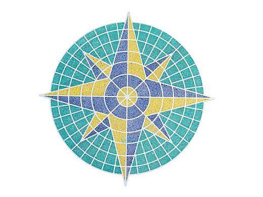 AquaStar Swim Designs Compass Stencil Only   White   F1001-01