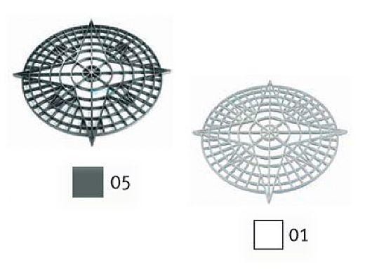 AquaStar Swim Designs Compass Stencil Only | White | F1001-01
