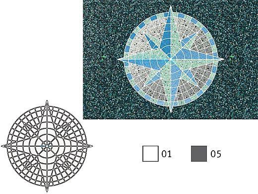 AquaStar Swim Designs Compass Stencil Only | Gray | F1001-05