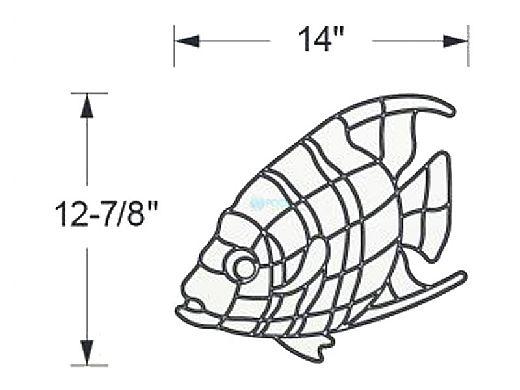 AquaStar Swim Designs Angel Fish Stencil Only | White | F1002-01