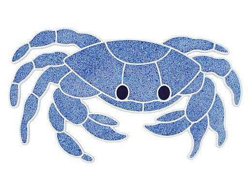 AquaStar Swim Designs Crab Stencil Only | White | F1003-01