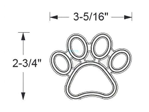 AquaStar Swim Designs Dog Paw Stencil Only | Set of 4 White | F1004-01
